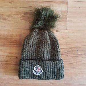 moncler hat beanie green